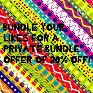 20% bundle deal!!!